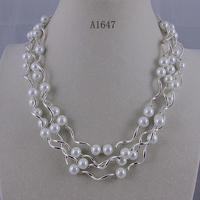 Wholesale Elegant jewelry AA 8 9MM white mother of pearl silver tube 4rows Magnet clasp Necklace earring free shippng