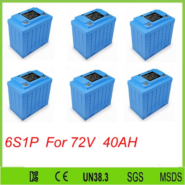 6pcs 6S1P <font><b>Lifepo4</b></font> <font><b>12v</b></font> <font><b>40AH</b></font> deep cycl lithium ion <font><b>battery</b></font> <font><b>12V</b></font> <font><b>40Ah</b></font> Solar Power System for Solar System For 72V <font><b>40ah</b></font> <font><b>battery</b></font> pack image