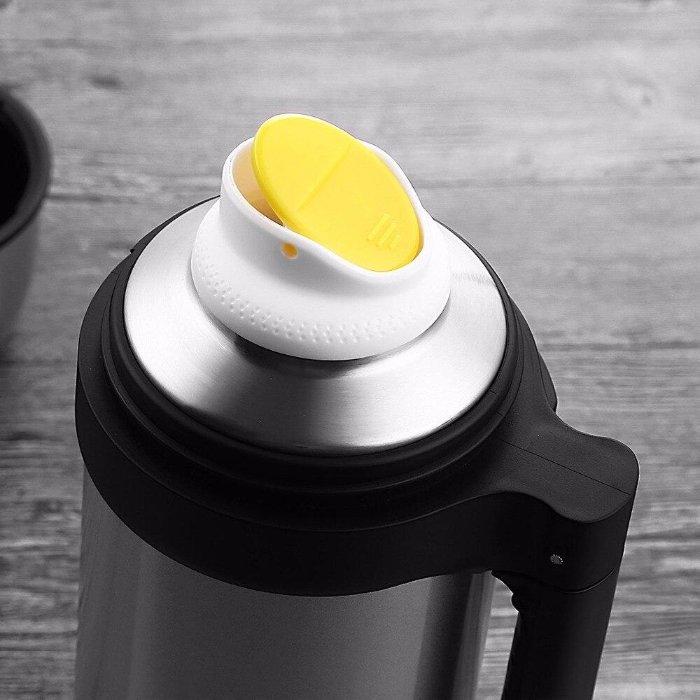 Bouilloire Isotherme à nouveau thermo tasse 1.5l thermos tasse 304 bouilloire de voyage en