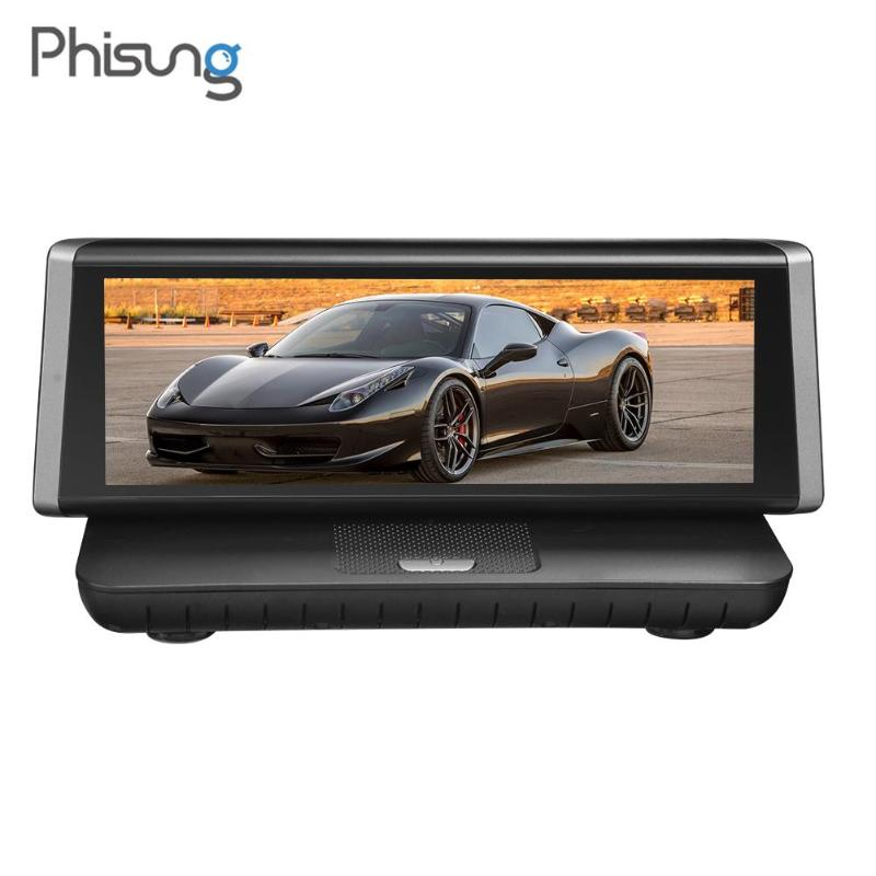 Phisung E02 8 Touch Screen 4G WiFi Android Car DVR Camera Full HD 1080P GPS Navigation Dash Cam Video Recorder Reversing Image фен dyson hd01 supersonic pink case 1600вт фуксия и серебристый