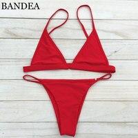 2016 Women Sexy Mini Bikini Micro Swimsuit Strappy Bikini Bright Color Biquini Brazilian Bottom Maillot De