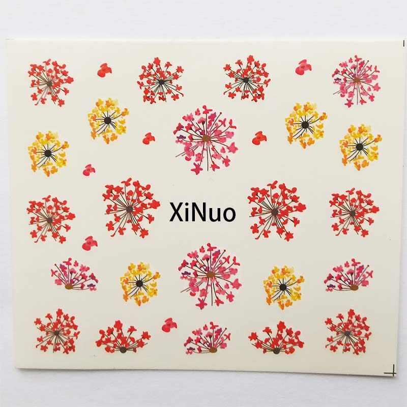 1 pçs decalques de água slider flor verão flora marca dwaterágua etiqueta do prego decoração envoltórios manicure b45/b46/b47/b48