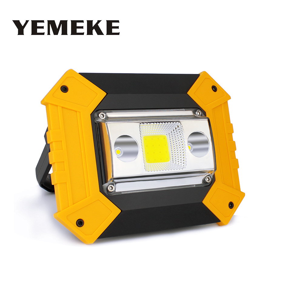 20W COB Led Portable Spotlight Led Work Light Rechargeable Floodlight Outdoor Emergency Lamp Portable Searchlight For Camping