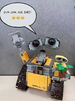 Newest Lepin 16003 687pcs Dea Robot WALL E Building Set Kits BlocksBringuedos Bricks Cute Toy For