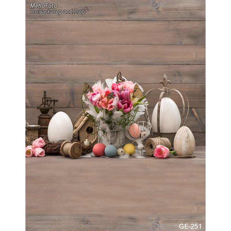 New Easter day photography backdrops vintage tool in door fotografia photo background for photo studio photography background easter day eggs in straw photography backdrops dry branches fotografia photo background for photo studio photography background