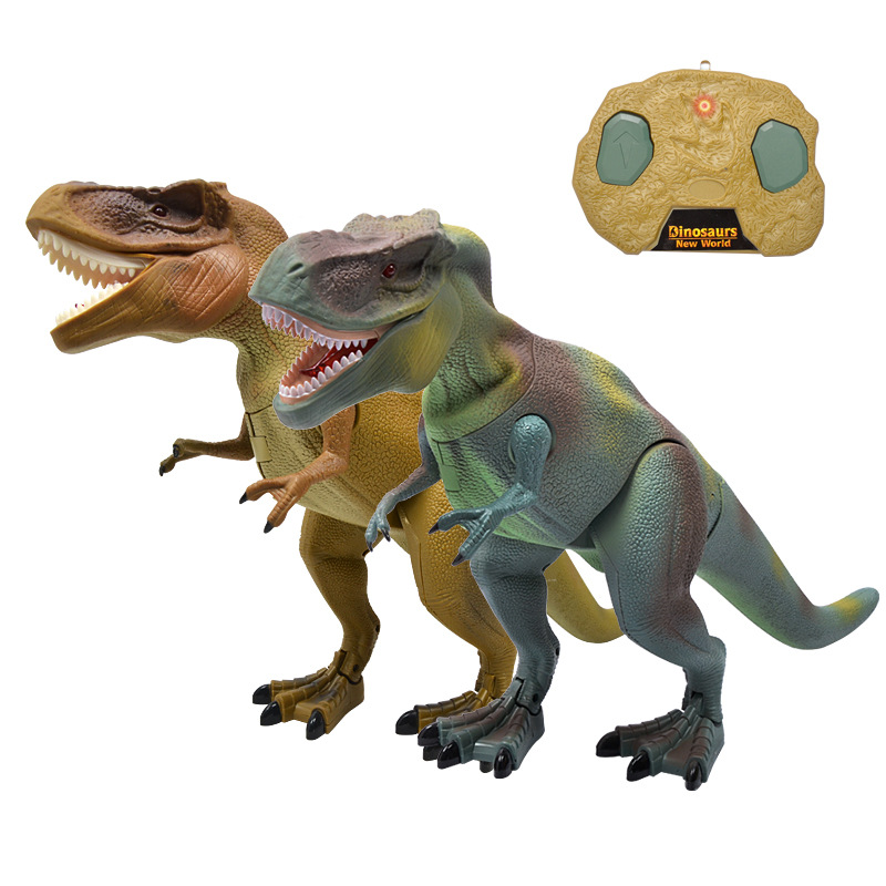 rc animal toy Dinosaur Toy Remote Control electric Jurassic Tyrannosaurus Rex Model Dinosaur  RC toys for kid best gift  infrared remote control scary creepy plush spider tarantula prank toy kid gift