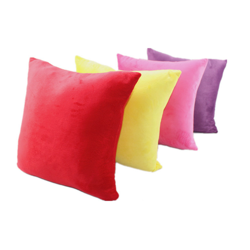 Fashion Big Custom Soft Solid Color Short Plush Custom Pillowcase Throw Pillow Cushion Home Decor Wholesale Cojines Almofada