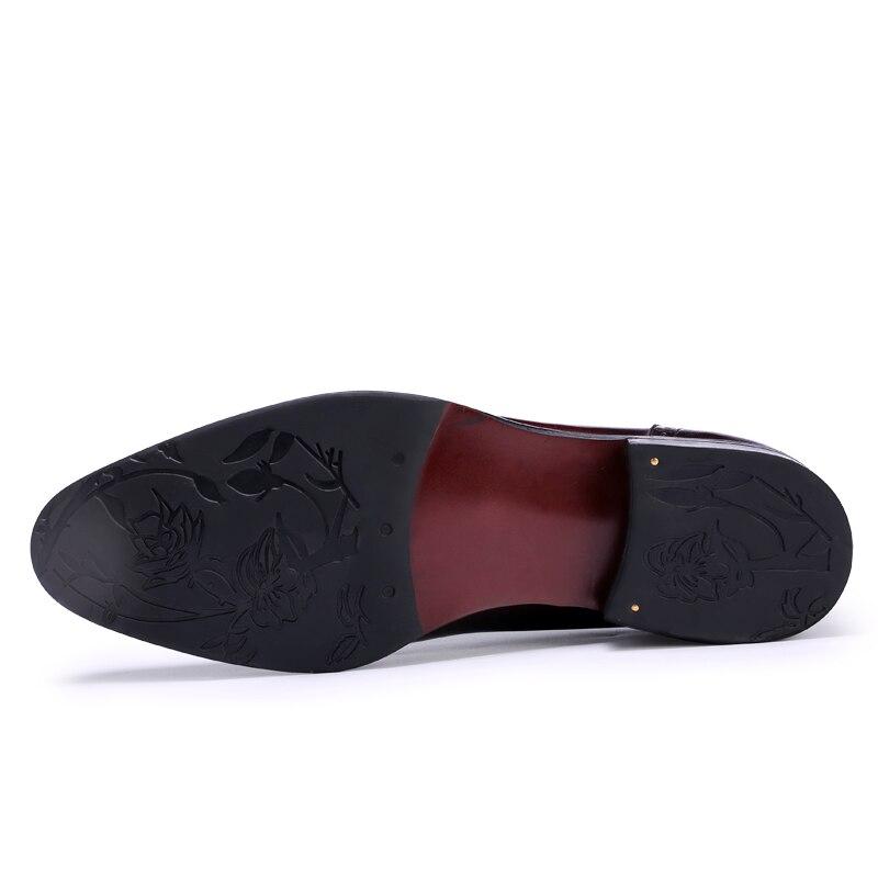 Sapatos Homens Vestido wine Bullock Oxfords 46 Plus Red De Negócios Formais Genuíno up 36 Brogues Tamanho Size 2019 Novos Lace Masculinos Black Couro I4X4gf