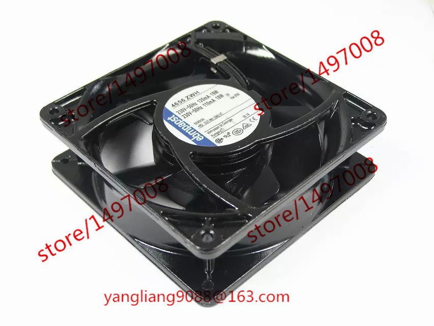 все цены на Free Shipping For ebmpapst 4656 ZWH, 4656ZWH AC 230V 19W 120x120x38mm Server Square Fan онлайн
