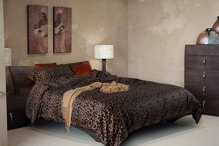 Luxury Black Leopard Print Bedding Sets Egyptian Cotton
