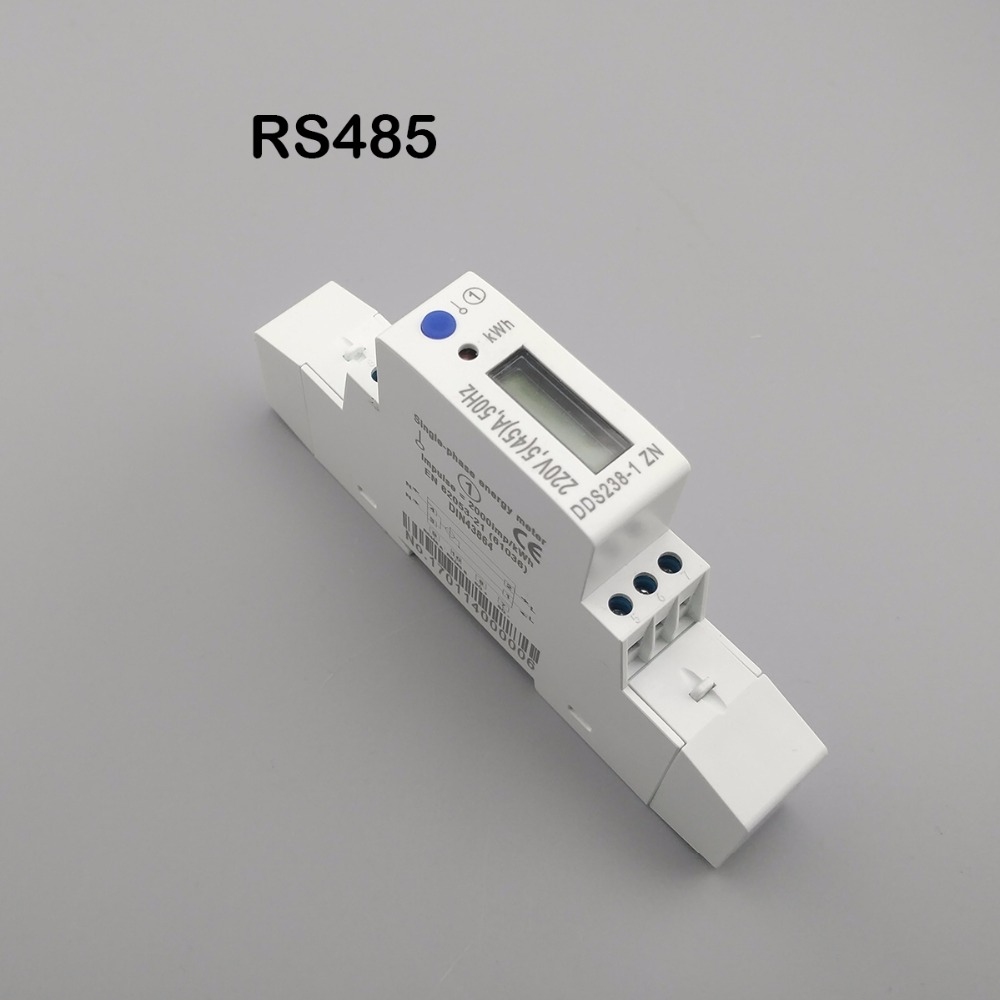 цена на 5(45)A 45A MAX 220V 50HZ voltage current single phase Din rail KWH Watt hour energy meter with RS485 MODBUS-RUT