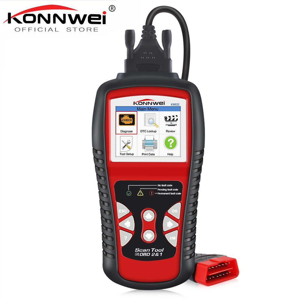 KONNWEI KW830 OBD2 ODB2 Automotive Scanner for Car Diagnosis Universal Auto Fault Error Code Reader ODB2 Car Diagnostic Scanner