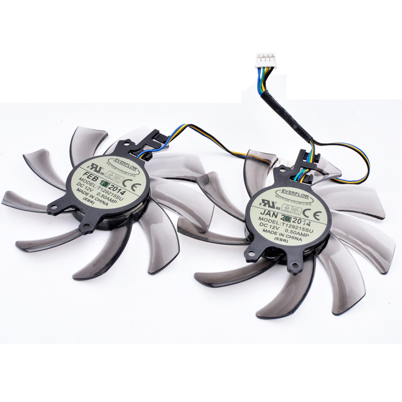 Original T129215SU 85mm 12V 0.50A 4Pin For ZOTAC <font><b>GTX650Ti</b></font> Boost-2GD5 GTX660-2GD5 HA Graphics Card Cooling Fan image