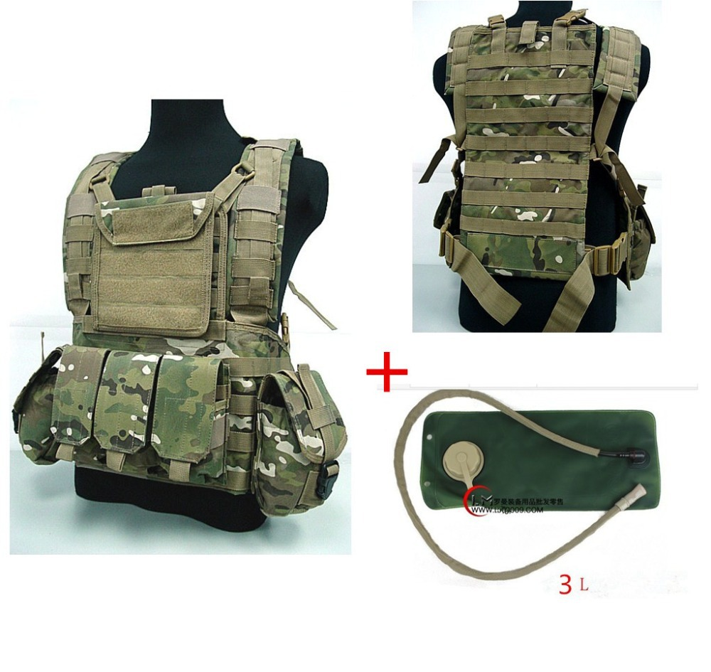 все цены на 3 litres of water bag Military USMC Tactical Combat Molle RRV Chest Rig Paintball Harness Airsoft Vest онлайн