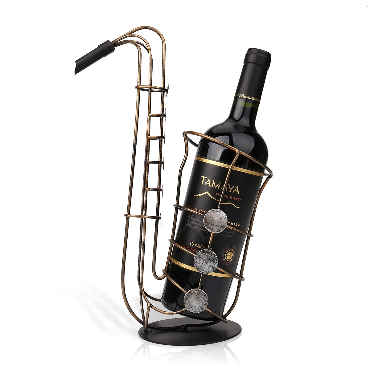 Tooarts wine holder metal sax wine rack beautiful and practical wine rack fantastic wine bottle - Types of beautiful wine racks for your home ...