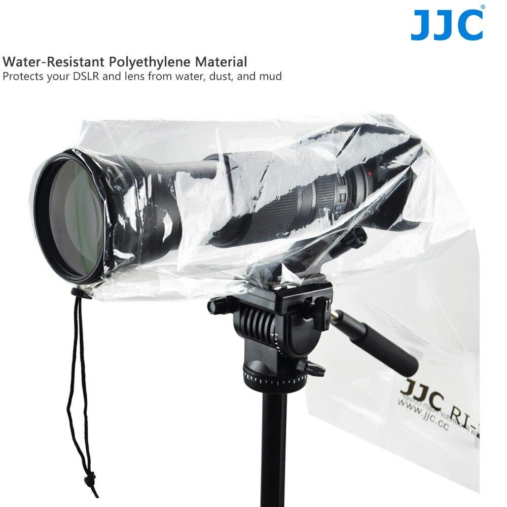 JJC 2 PCS Caméra Imperméable See-through Manteau Trépied Montage DSLR avec Lentille Housse De Pluie Protecteur pour Canon EF 24-70mm 1:2. 8L USM
