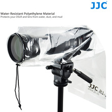 """JJC DSLR Raincoat 2PCS Camera Rain Cover for Camera with Lens up to 18"""" (45cm) and 7"""" (17.7cm) wide Tripod mountable"""