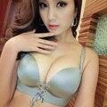 2016 летние сексуальные женщины невидимый бюстгальтер push up силиконовый бюст передняя закрытие спинки самоклеющиеся гель d прибытие