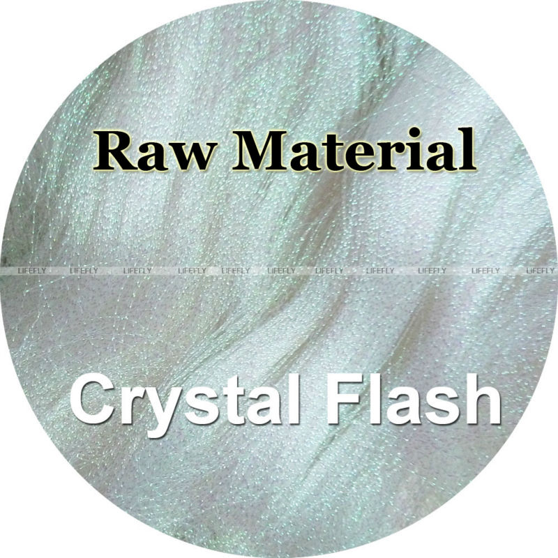 Pearl Color 5kg Crystal Flash Raw Material Twisted Holographic Mylar Metallic Tinsel Flash Fly Jig Tying