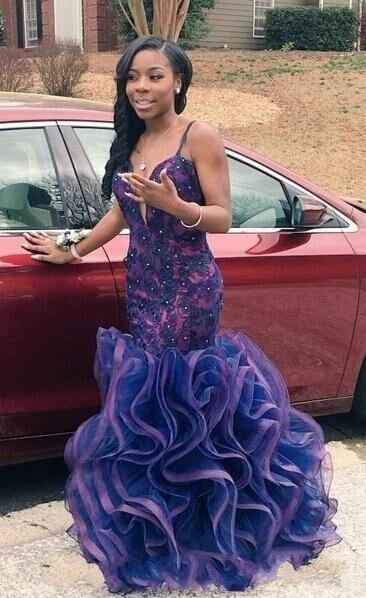 Purple mermaid dresses 2017