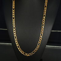 Vnox Mens Gold Color Choker Necklace Punk Stainless Steel 10mm Chunky Figaro Chain Long Necklace 29