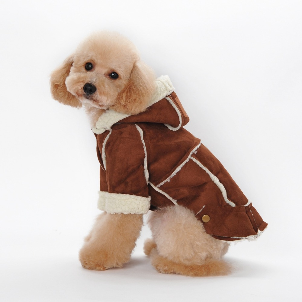Winter Pet Dog Down Parkas Warm Vintage London Coats Jackets For Dogs Cats