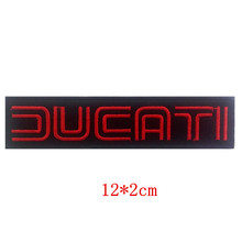 Embroidered patch iron&sew on badge Different Red and Black DUCATI