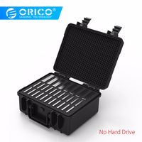 ORICO 30 bay Hard Drive Protection Case 8 ports for 3.5 inch and 22 ports for 2.5inch Waterproof Shockproof Dustproof(PSC L8S22)
