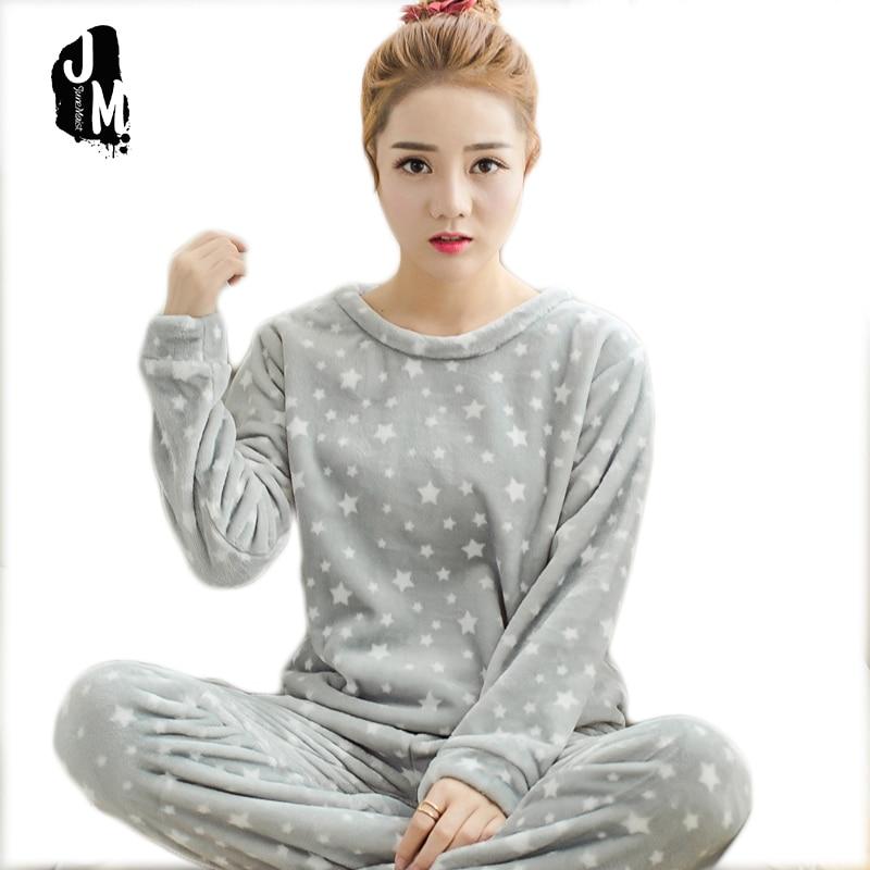 matériaux de haute qualité nuances de bon marché US $15.08 48% OFF|Junemaist Pyjamas Warm Long Sleeve Women Pajama Sets Cute  Cartoon Sleepwear Women Pyjama Femme Home Suit Lounge Flannel Pyjamas-in ...