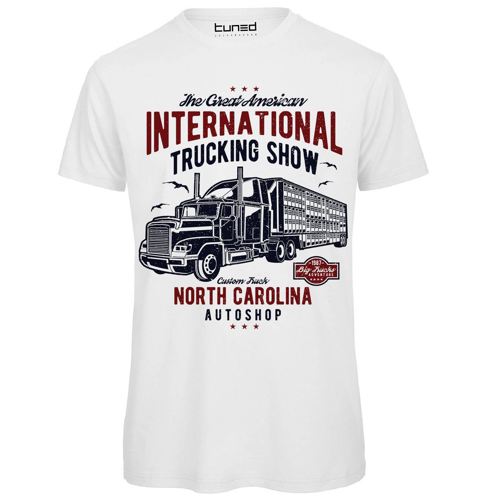 T-Shirt Divertente Uomo Maglietta Cotone Con Stampa Camion Big Truck Tuned Hipster Tees Summer Mens T Shirt