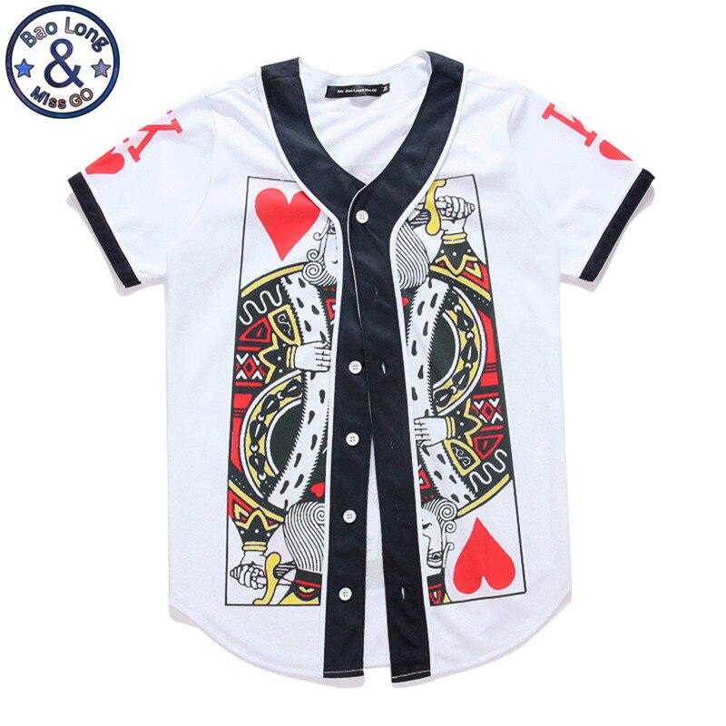 Brand clothing women men 3d print baseball t shirt poker for Best baseball t shirts