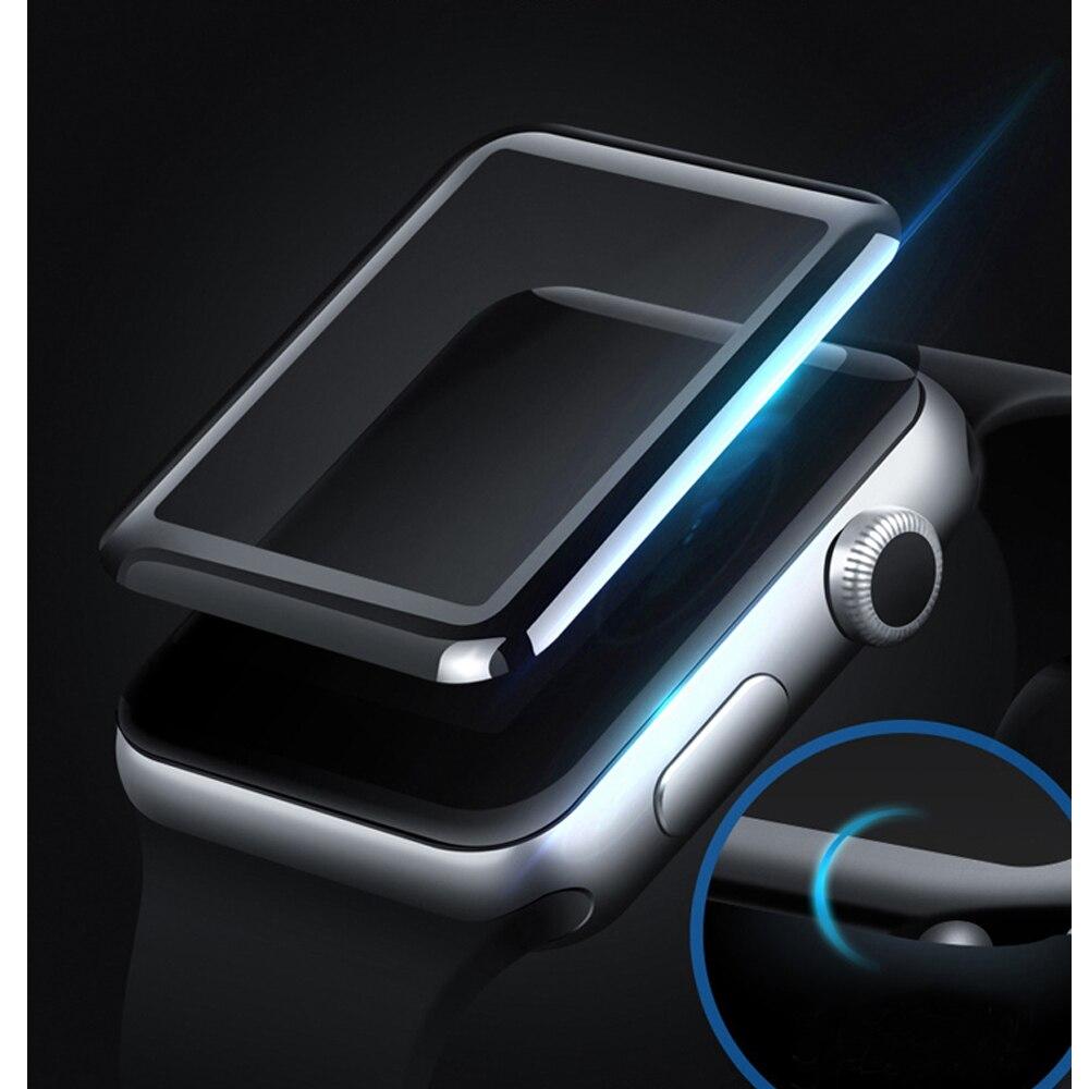 CRESTED закаленная пленка для мм Apple Watch 42mm 38 мм 3D стекло изогнутая поверхность анти-шок Полный экран протектор пленка для iwatch 1/2/3