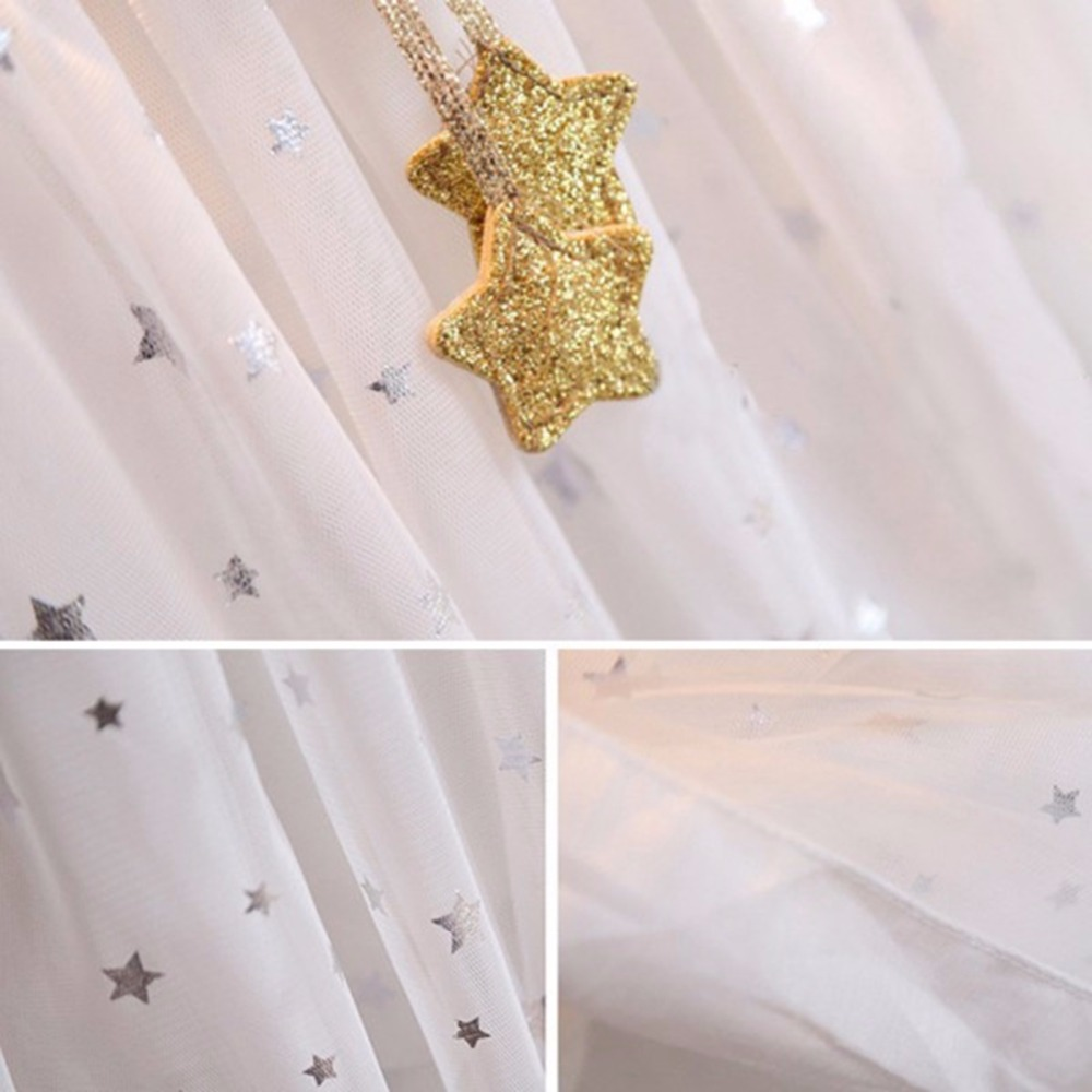 2017 sommer Prinzessin Baby Kid Kleid Sleeveless Gold Star ...