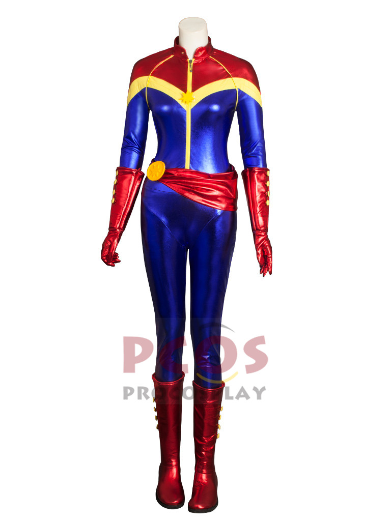 Captain Marvel : Ms. Marvel Carol Danvers Cosplay Costume Avengers Jumpsuit Ms. Marvel Comic Ver. cosplay Zentai mp004040