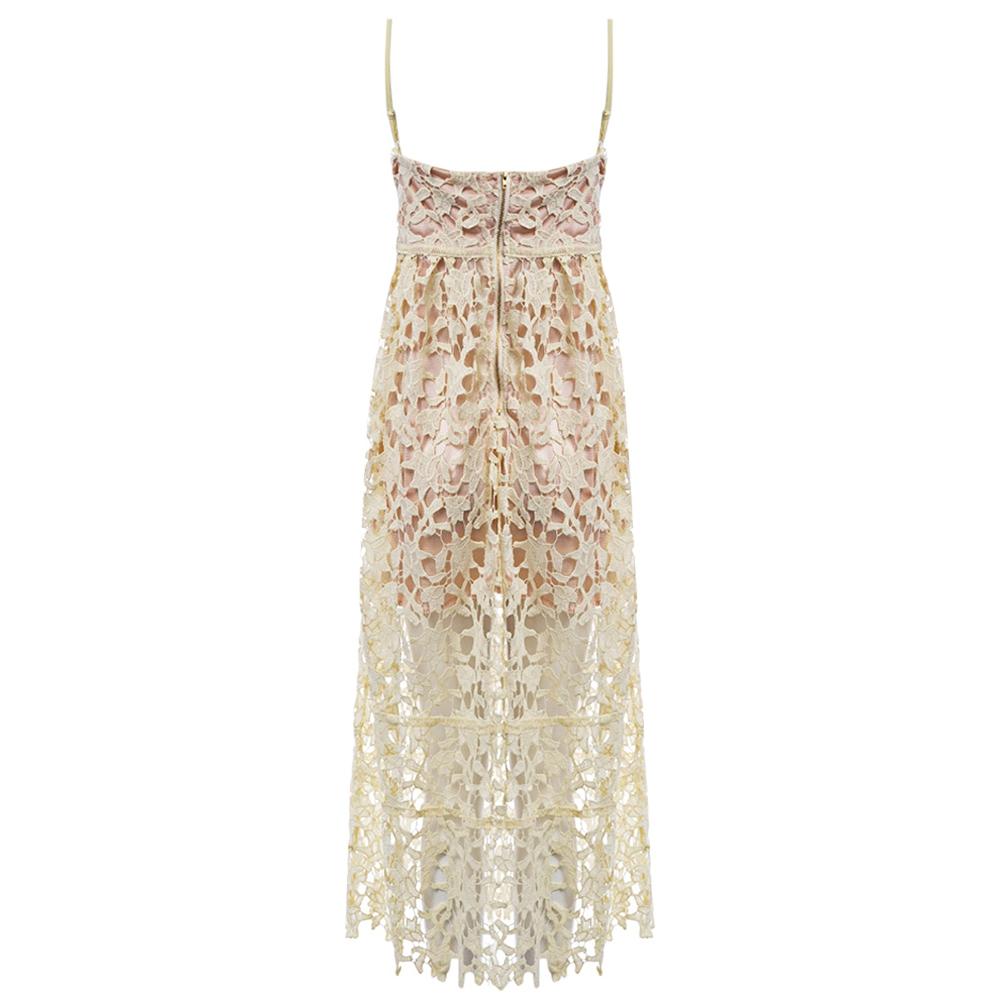 VESTLINDA Spaghetti Strap Backless Hollow Out Crochet Lace Dress Women Vestidos Mujer Robe Femme 2017 Summer Sexy Maxi Dress 21