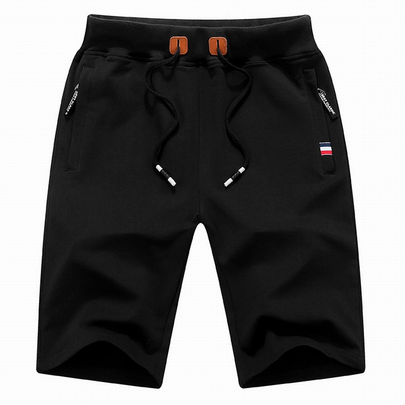 2018 Mens Cotton Shorts  Summer Hot Breathable Male Bermuda Solid Elastic Waist Casual Short Pants Fashion Knee Length