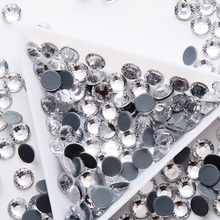 Super Glitter 1440pcs SS6-SS30 Flatback Crystal Clear Glue Back HotFix Rhinestones Strass Crystal for Clothes Shoes and Dancing 2058hf ss6 ss30 olivine mixed sizes crystal hotfix rhinestones garments accessoriesdiy strass glitters flat back crystal