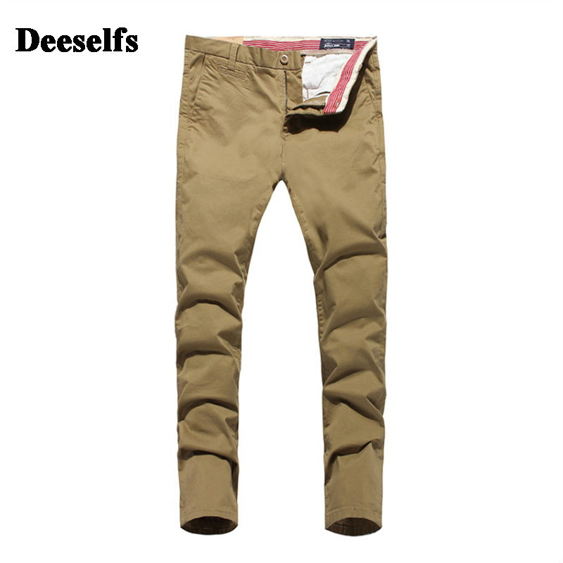High Quality Khaki Black Jeans Men Casual Pants Deeselfs Brand Clothing Mid Stripe Retro Slim Fit Men`s Pockets Jeans Uomo S361