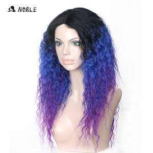 Image 3 - Noble Hair Lace Front Ombre Blonde Wig 26inch Long Curl Synthetic Wigs For Black Women 16 COLOUR Free Shipping