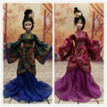 Handmade Hanfu Chinese Ancient Costume Doll Clothes for 29CM Kurhn Doll or OB27 Bjd 1/6 Body Doll Girl Toys Dolls Accessories