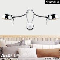 simplicity led waill lamp bedroom bedside lamp rocker stud walls lights hang modern reading lights with dimmer switchv FG623