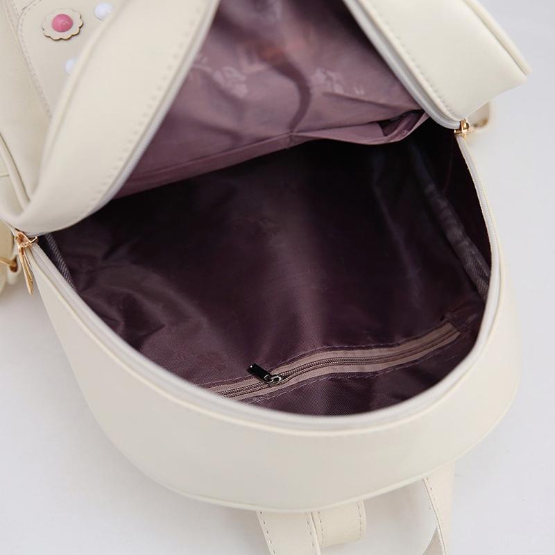 Backpack Female 3 Piece Combination Composite Bag Bear Hanging Inlaid Imitation Diamond Tassel Fashion Casual Shoulder Bag 67