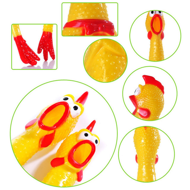 Screaming Chicken Squeeze Sound Toy Pets Dog Toys Product Shrilling Decompression Tool Squeak Vent chicken 5