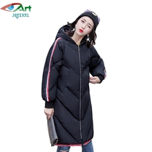 JQNZHNL 2017 New Winter Women Down Cotton Coats Warm Parkas Medium Long Casual Hooded Thicken Cotton-padded Jackets Parkas E505