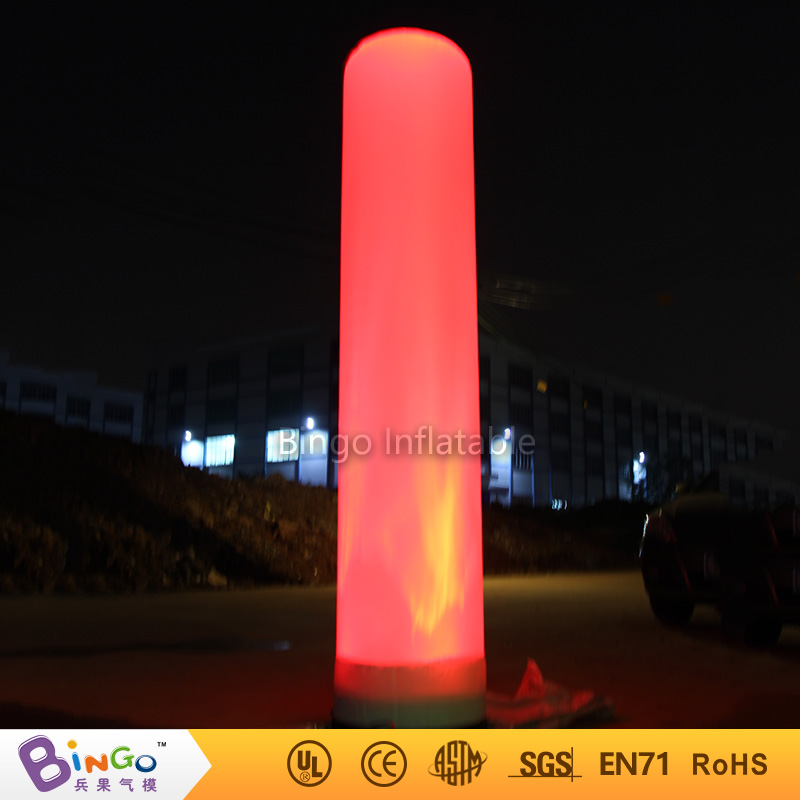 Lighting inflatable tube 2M / 7ft air tube light up toy for outdoor event party pool inflatable toys for decoration heart shape inflatable lamp post inflatable lighting decoration for wedding n valentine s day celebration light up toy