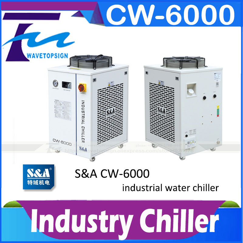 S&A CW6000 Industry Air Water Chiller for CO2 Laser Engraving Cutting Machine Cooling