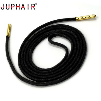 JUPHAIR Cheap Custom Noble Gold Metal Tip Waxing Shoelace Thick Round Waxed Shoelaces Fit Boots Sneakers Dress Shoes Shoe Laces unisex colourful shoelace men women rope multicolor sneakers shoe laces waxed round shoelaces shoes woman round cord 26 colors