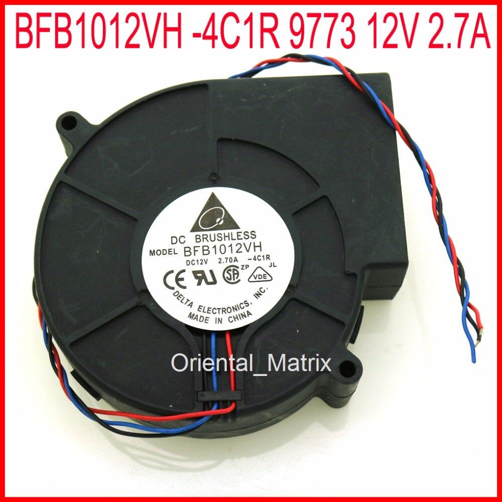Free Shipping 2pcs BFB1012VH -4C1R 9773 12V 2.7A 97*97*33mm s