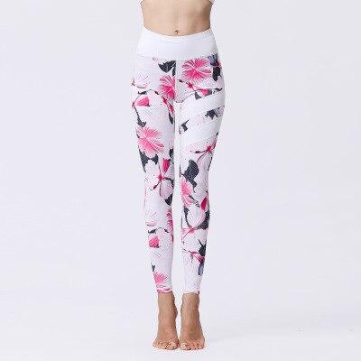 Bunga Dicetak Sport Legging Wanita Gym Celana Ketat Kebugaran Ukuran Besar Wanita Yoga Celana Lari Elastis Tinggi Pinggang Celana Olahraga Celana Ketat In Yoga Pants From Olahraga Hiburan On Aliexpress
