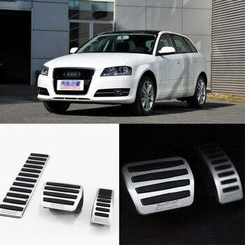 EEN Set Aluminium Non Slip Voetsteun Brandstof Gas Rempedaal Cover Voor Audi A3/TT AT/MT
